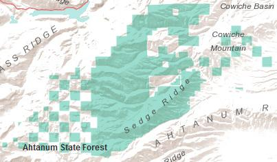 Ahtanum State Forest map graphic